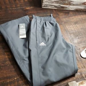 🎅Adidas Mesh Grey Warmup Track Pants